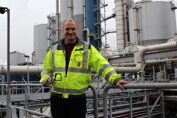 UPM:n Uruguayn operaatioiden johtaja Jussi Penttilä on tyytyväinen sellun kasvavaan kysyntään maailmalla.
