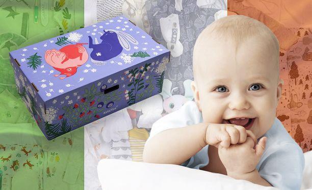 Äitiyspakkauksia aletaan jakaa myös Irlannissa.