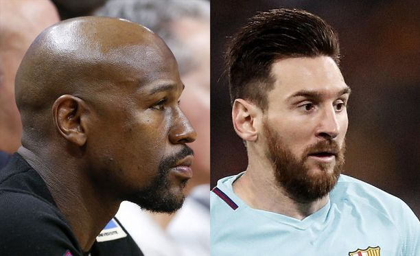 Floyd Mayweather (vas.) ja Lionel Messi pitävät hallussaan viime vuonna parhaiten tiennaneiden urheilijoiden kärkisijoja.