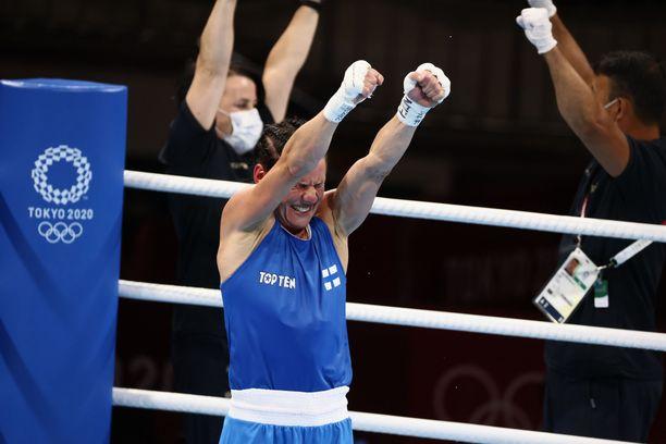 Mira Potkonen tuuletti välieräpaikkaa ja olympiapronssia tiistaina.