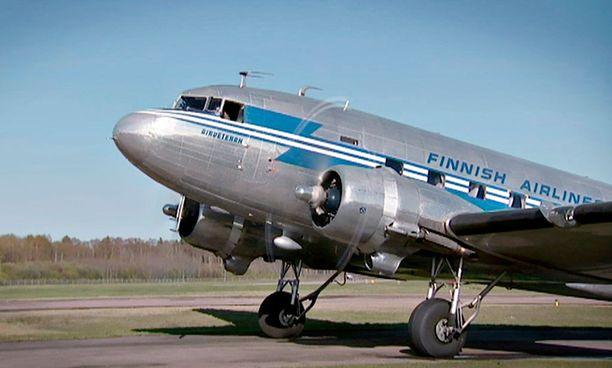 Onnettomuuskone oli Aeron DC-3.