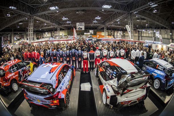 Kauden 2019 WRC-autot ja -kuljettajat esittäytyivät kaksi viikkoa ennen kauden alkamista Birminghamissa, Isossa-Britanniassa.