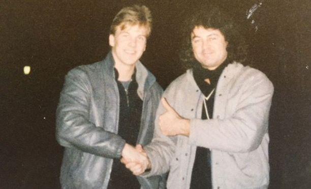 Jussi Rautiainen ja Ian Gillan ystävystyivät Bremenissä.