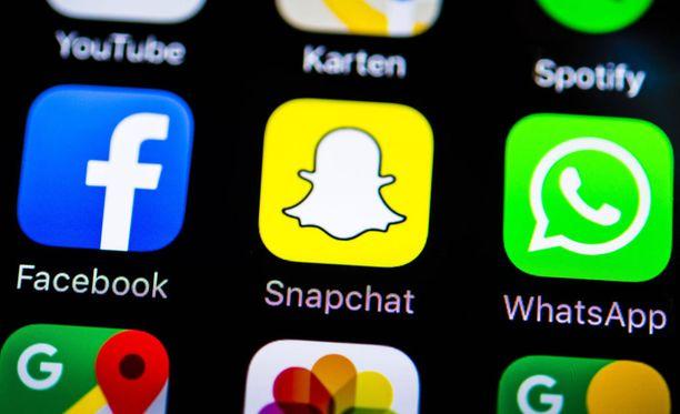 Snapchat ei sijoittunut hyvin yksityisyyden suojan vertailussa. Facebook nappasi parhaat pisteet.