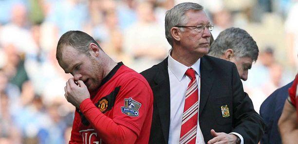 Brittimediat epäilevät Wayne Rooneyn ja Alex Fergusonin riitaantuneen.