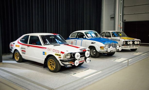 70-lukua: Corolla Levin, Saab 96 V4 ja Ford Escort RS 2000.
