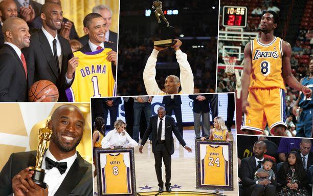Kobe Bryant ehti elämänsä aikana saavuttamaan paljon.