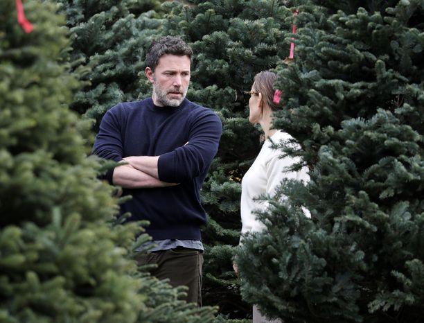 Joulukuusen etsiminen ei sujunut hilpeissä tunnelmissa.
