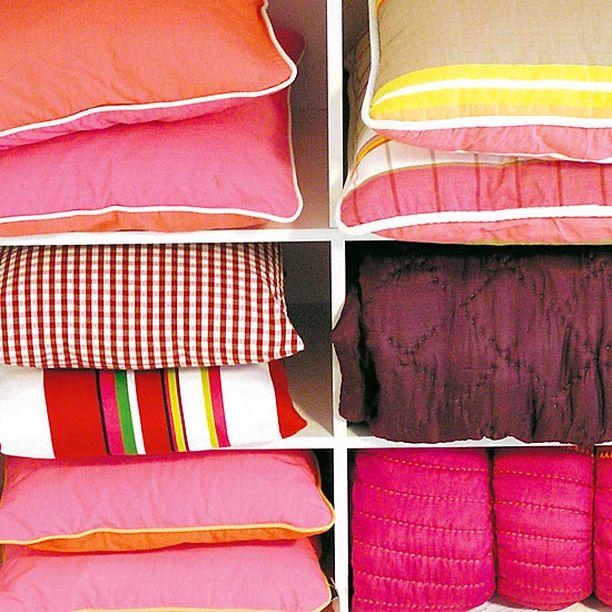 Mokon tyynyissä on herkulliset värit.