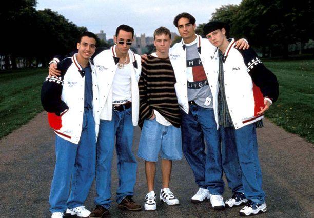 Backstreet Boys loistonsa päivinä vuonna 1995.