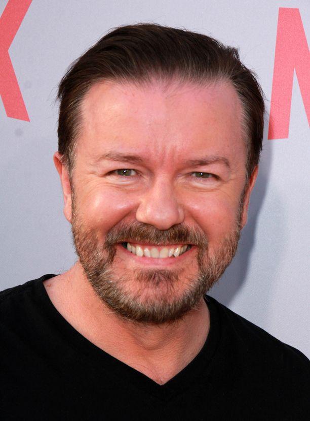 Konttori-sarjan käsikirjoittaja, näyttelijä Ricky Gervais tahtoo uusia roolinsa David Brentinä.