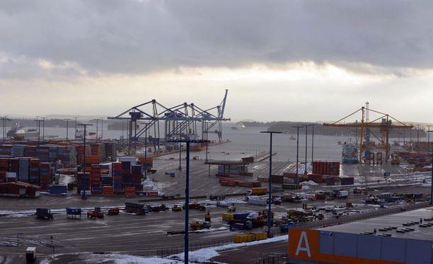 Eripura johti työnseisaukseen. Kuva Vuosaaren satamasta vuodelta 2008.