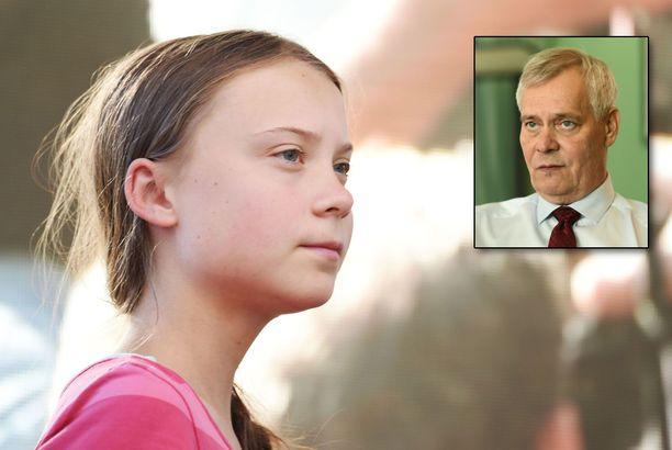 Pääministeri Antti Rinne haluaa tukea Greta Thungbergin toimintaa.
