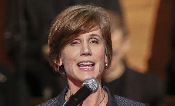Yhdysvaltain vt. ex-ulkoministeri Sally Yates todistaa ensi viikolla senaatissa Trumpin turvallisuusneuvonantaja Michael Flynnistä.