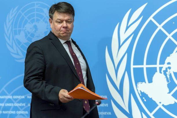 WMO:n pääsihteeri Petteri Taalas.