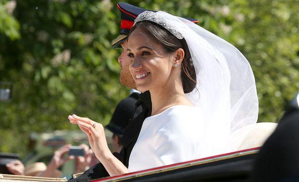 Sussexin herttuatar Meghan vihittiin prinssi Harryn kanssa toukokuussa 2018.
