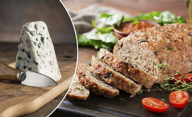 Kolmen juuston murekkeessa yhdistyvät juustoraaste, sinihomejuusto ja fetajuusto.