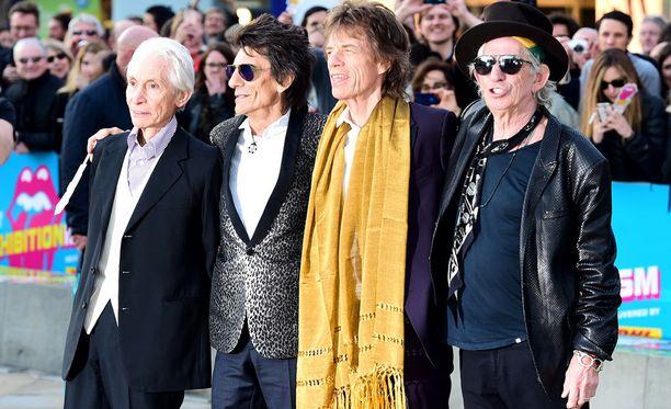 The Rolling Stones huhtikuussa Lontoossa.