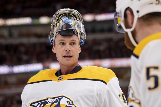 Pekka Rinteellä on kasassa nyt 14 tehopistettä NHL:ssä.