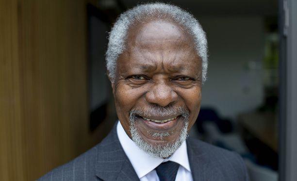 Kofi Annan oli kotoisin Ghanasta.