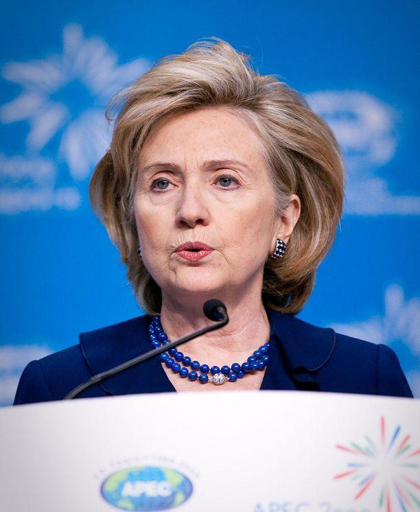 Hillary Clinton ja tuulitukka vuonna 2009.