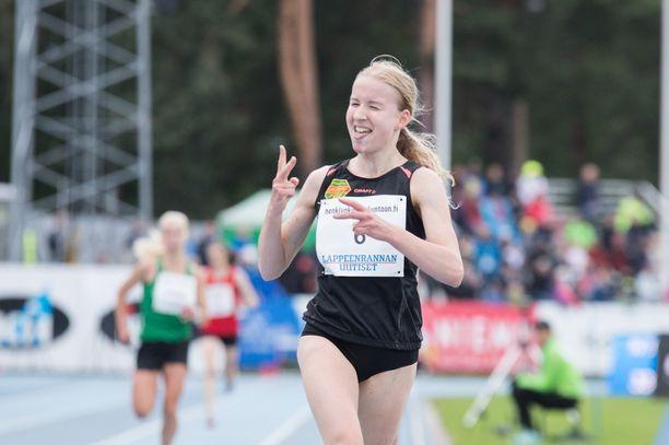 Johanna Peiposen tavoitteena on rikkoa syksyllä puolimaratonin EM-raja. Kuva viime vuoden Kalevan kisoista.