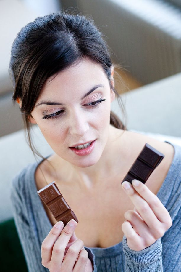 Suklaata koskevat tutkimukset on tehty suklaalla, jossa on kaakaota yli 70 prosenttia.
