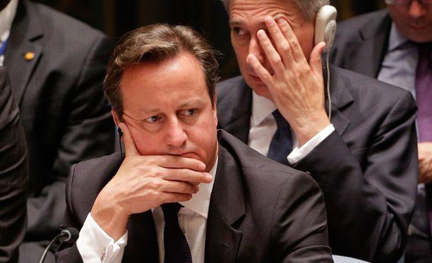 Pääministeri David Cameron.