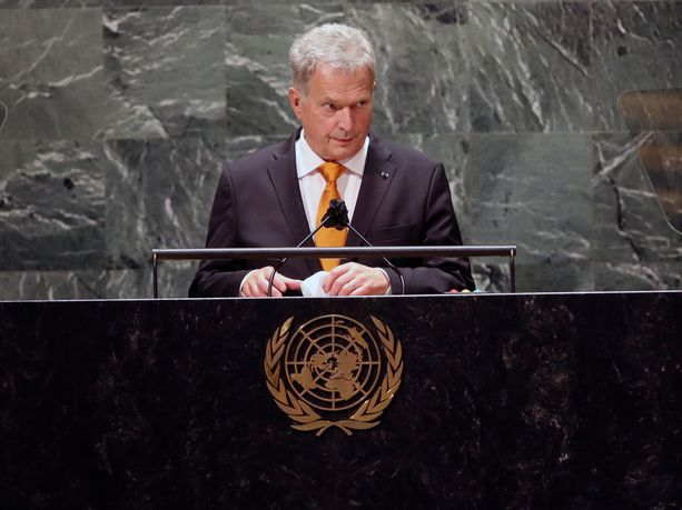 Presidentti Sauli Niinistö puhui YK:n yleiskokouksen yleiskokouksessa tiistaina.
