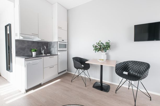 Kaikissa Helsinkiin avattavan huoneistohotellin asunnoissa on ruoanlaittomahdollisuus.