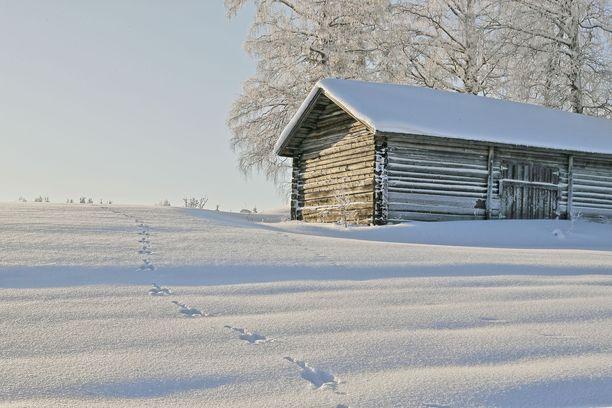 Lapissa on paikoin jo kunnon lumipeitekin. Arkistokuva.