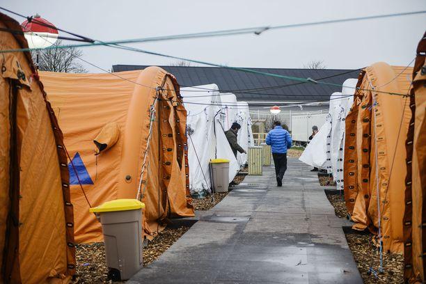 Pakolaiskeskus Thistedissä Pohjois-Jyllannissa. Kuva on vuodelta 2016.