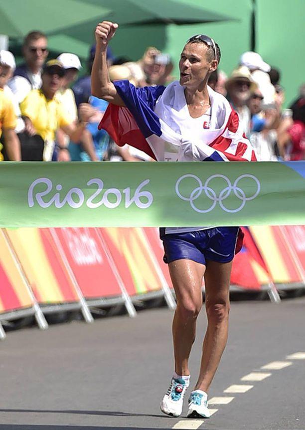 Matej Toth voitti 50 kilometrin kävelyssä olympiakultaa Riossa 2016.