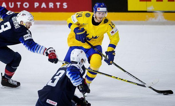 Gustav Nyquist jallitteli amerikkalaisia eilisessä välierässä, jonka Ruotsi voitti tennislukemin 6-0.