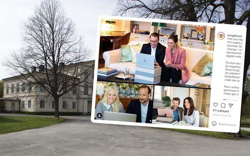 Victoria, Mette-Marit ja Mary: kuninkaallisten upeat edustustyylit videopalaverissa