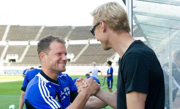 Teemu Tainio ja Sami Hyypiä ovat suomifutiksen kultaisen sukupolven pelaajia.