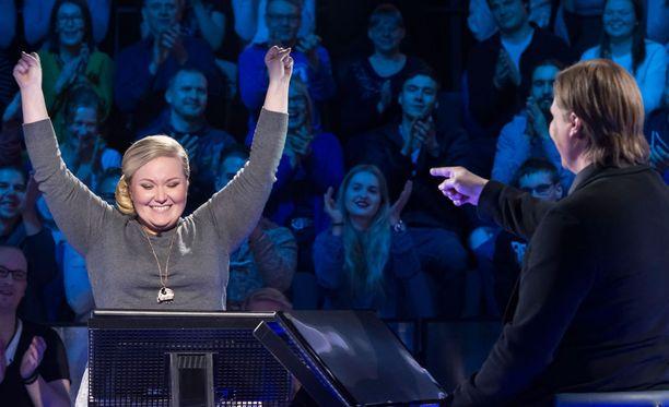 Rohkeasti pelannut Lilli tuuletti voittoeurojaan lauantai-illan jaksossa.
