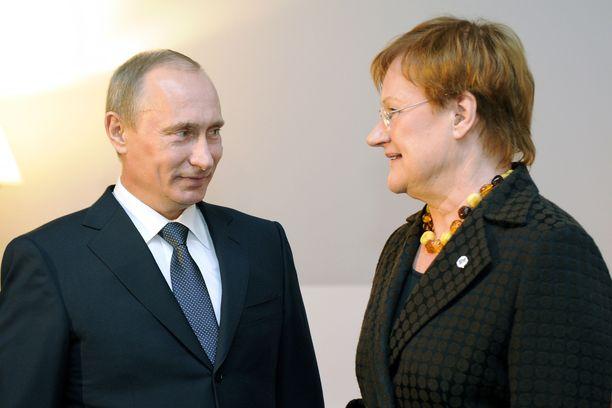 Vladimir Putin ja Tarja Halonen tapasivat lukuisia kertoja.
