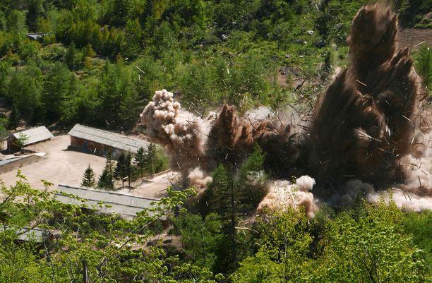 """Näin ydinkoealue """"räjäytettiin"""" toukokuussa 2018."""