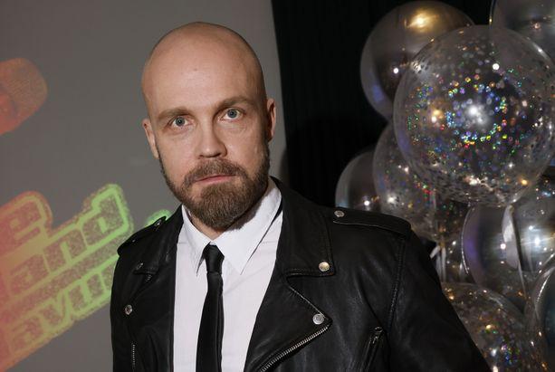 Juha Tapio The Voice of Finland -ohjelman lehdistötilaisuudessa vuonna 2021.