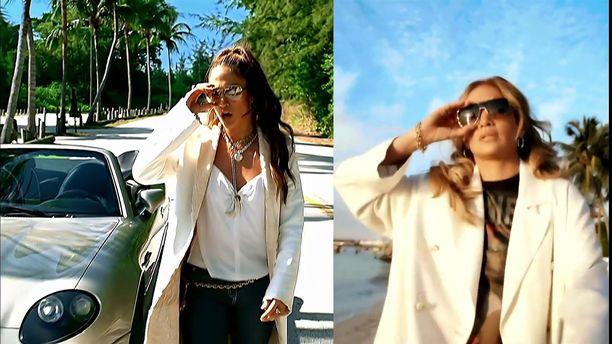 Kuvassa vasemmalla Jennifer Lopez vuonna 2001, oikealla vuonna 2021.