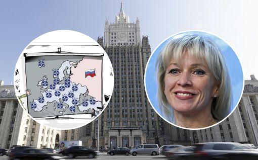 Venäjän ulkoministeriön Nato-kartta hämmentää: puolet Suomesta puuttuu, Baltia osana Venäjää