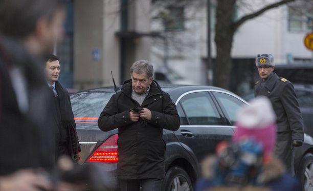 Tasavallan presidentti Sauli Niinistö vieraili tiistaina Kotkassa ja Haminassa.