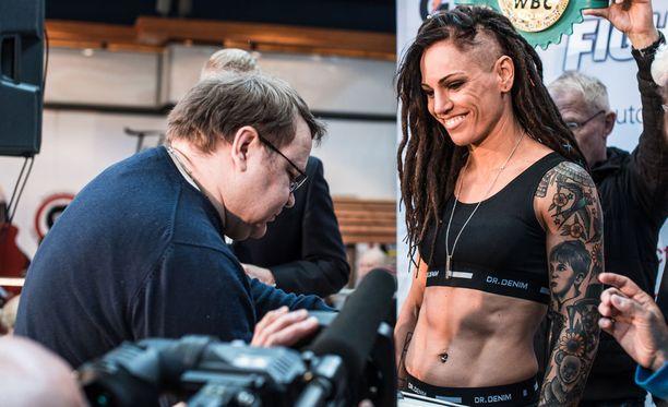 Eva Wahlström puolustaa WBC-liiton MM-vyötään myöhemmin tänään Mayra Alejandra Gomezia vastaan.