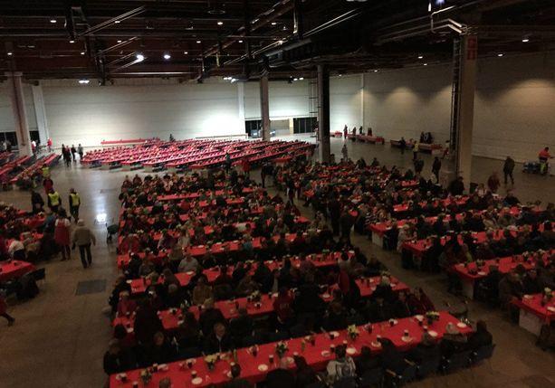 Hurstin joulujuhla järjestettiin viime vuonna ensimmäistä kertaa Messukeskuksessa.