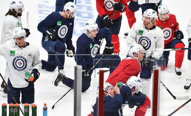 Winnipeg Jets ja Patrik Laine harjoittelivat Hartwall-areenassa tiistaiaamuna.