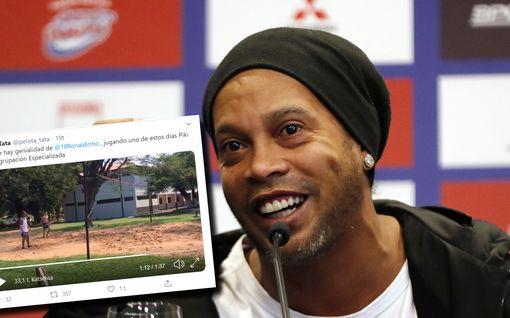 Brassilegenda Ronaldinhon taidot yhä kunnossa – pelaa videolla muiden vankien kanssa
