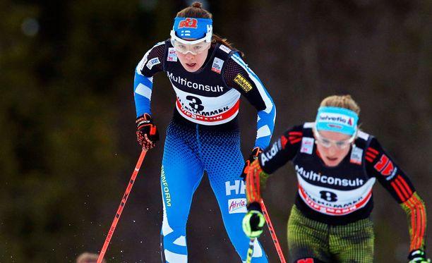 Kerttu Niskanen oli paras suomalaisdaami Davosissa.