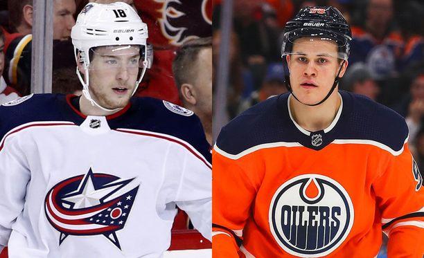 Pierre-Luc Dubois (vas.) on pelaamassa läpimurtokauttaan NHL:ssä. Jesse Puljujärven tilanne on sen sijaan hankala.