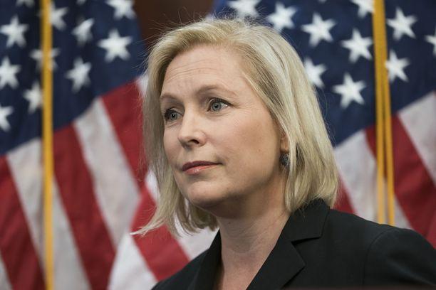 Senaattori Kirsten Gillibrand tavoittelee demokraattien presidenttiehdokkuutta.